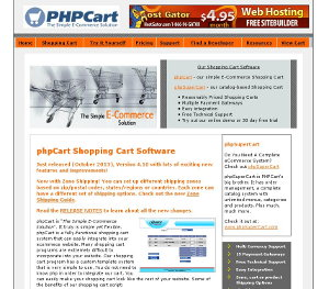 Phpcart Webseite